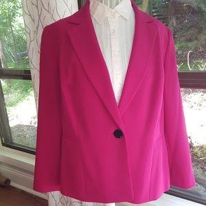 Pink Kasper single button tailored blazer, 18w